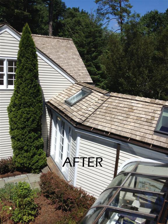 Cedar Roof Cleaning On Cherry Lane In Fairfield Ct